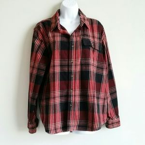 Old Mill Men's Plaid Button Front Shirt Size Large